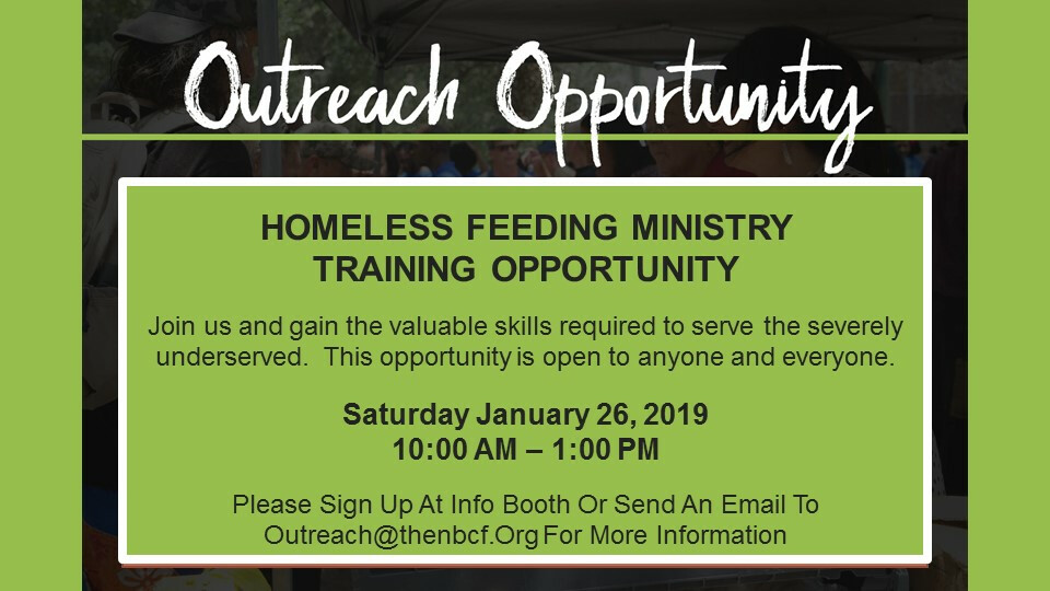 Outreach Opportunity