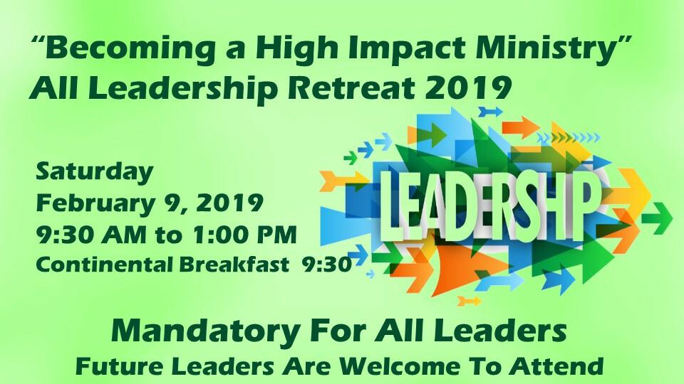 Annual Ministry Leadership Retreat