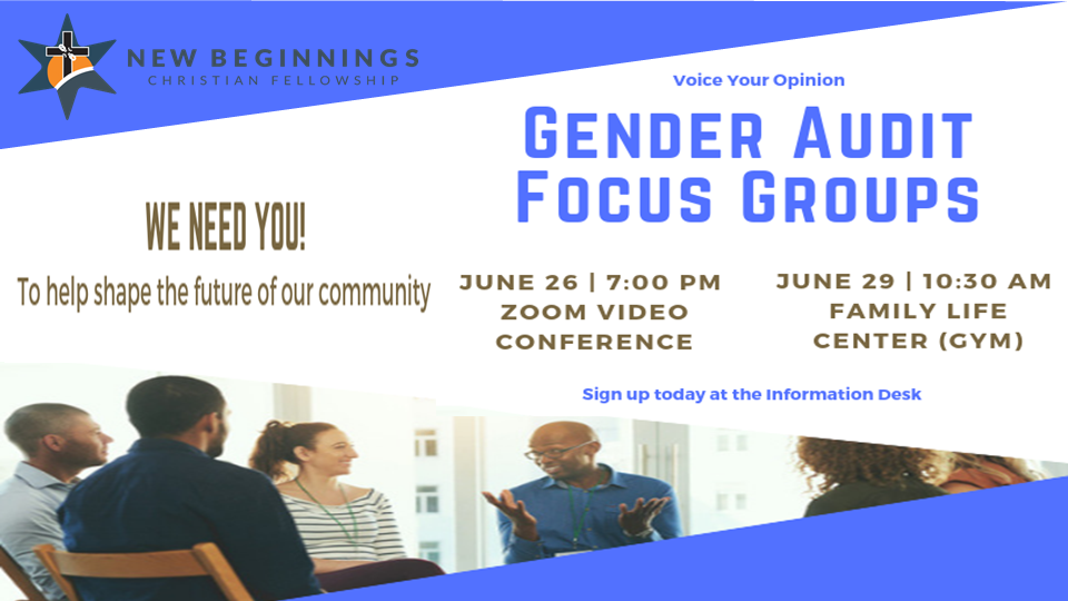 Gender Audit - Focus Group 1