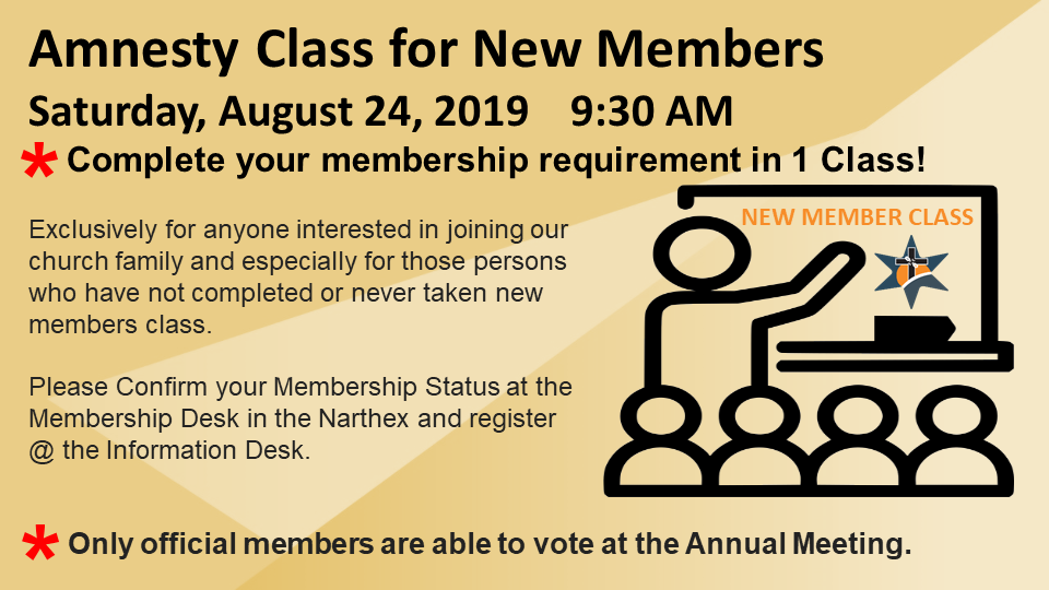 New Member Class - Special