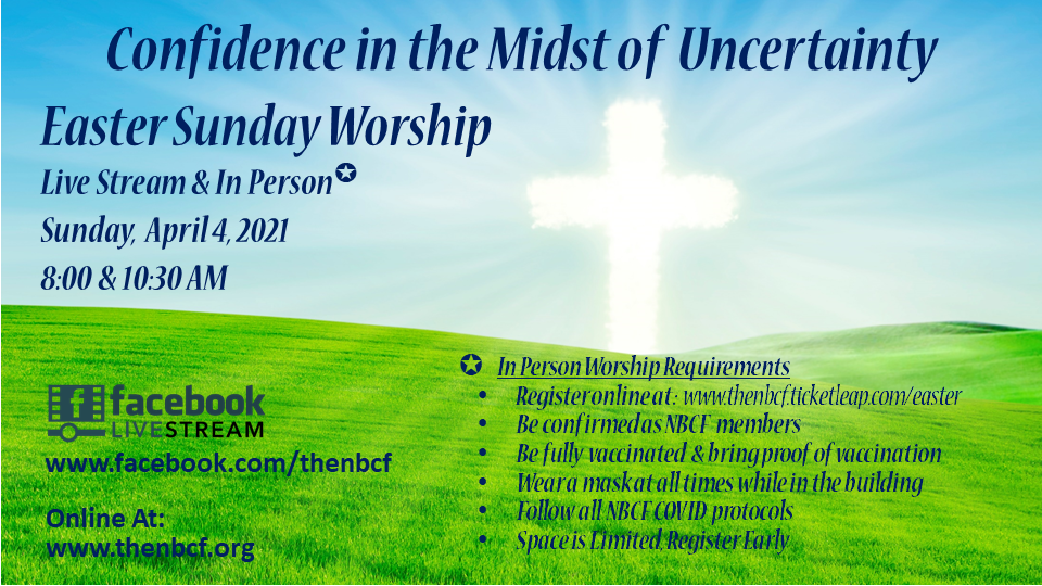 Easter Service In-Person Registration